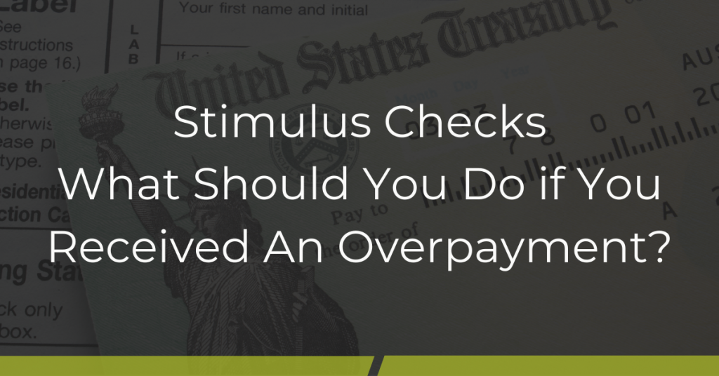 Overpayment of stimulas check